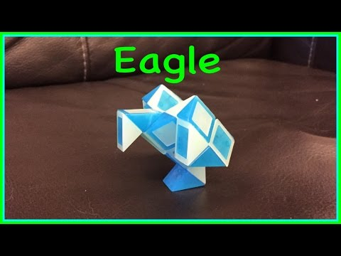 Rubik's Twist Or Smiggle Snake Puzzle Tutorial: How To Make An Eagle Step By Step