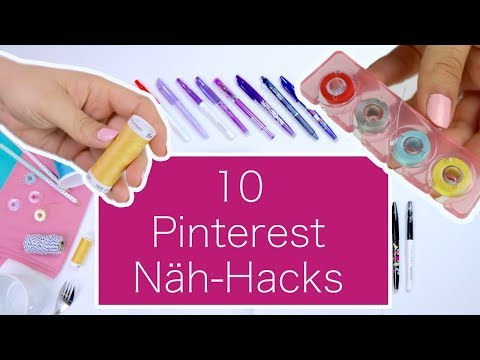 10 Näh-Hacks von Pinterest: was funktioniert wirklich? | Nastjas Nähtipps Folge #2