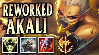 New Reworked Korean Build Akali Conquers! Stinger Akali Top - League of Legends S8