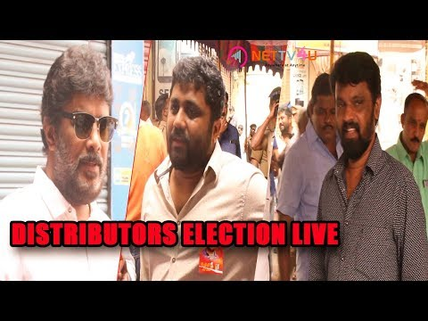 Celebrities Voting For The Distributors Election 2017 | Sundar C.| R. Parthiepan | Thyagarajan