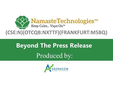 INTERVIEW - Namaste Discusses Exclusive Supply Agreement wit