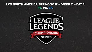 tl vs c9 game 1   na lcs spring 2017 week 7 day 1
