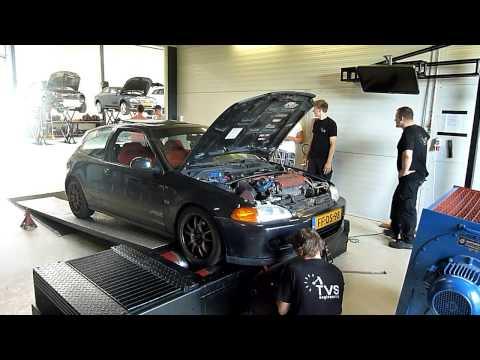 Honda Civic EG6 Stock 1.8 B18C-R Met Bolt Ons Dyno Run @ TVS !