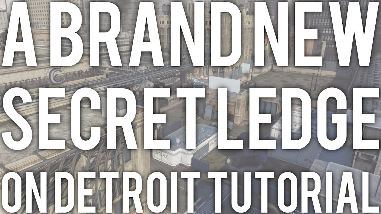 A Brand New AW Secret Ledge On Detroit Tutorial  YouTube