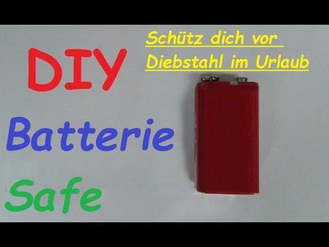 Geld Wertsachen Im Urlaub Zuhause Sicher Verstecken Versteck Selber Machen Batterie Safe Bauen