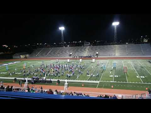 Gregory Portland High School Marching Band at Area G Marching Band Competition 2019