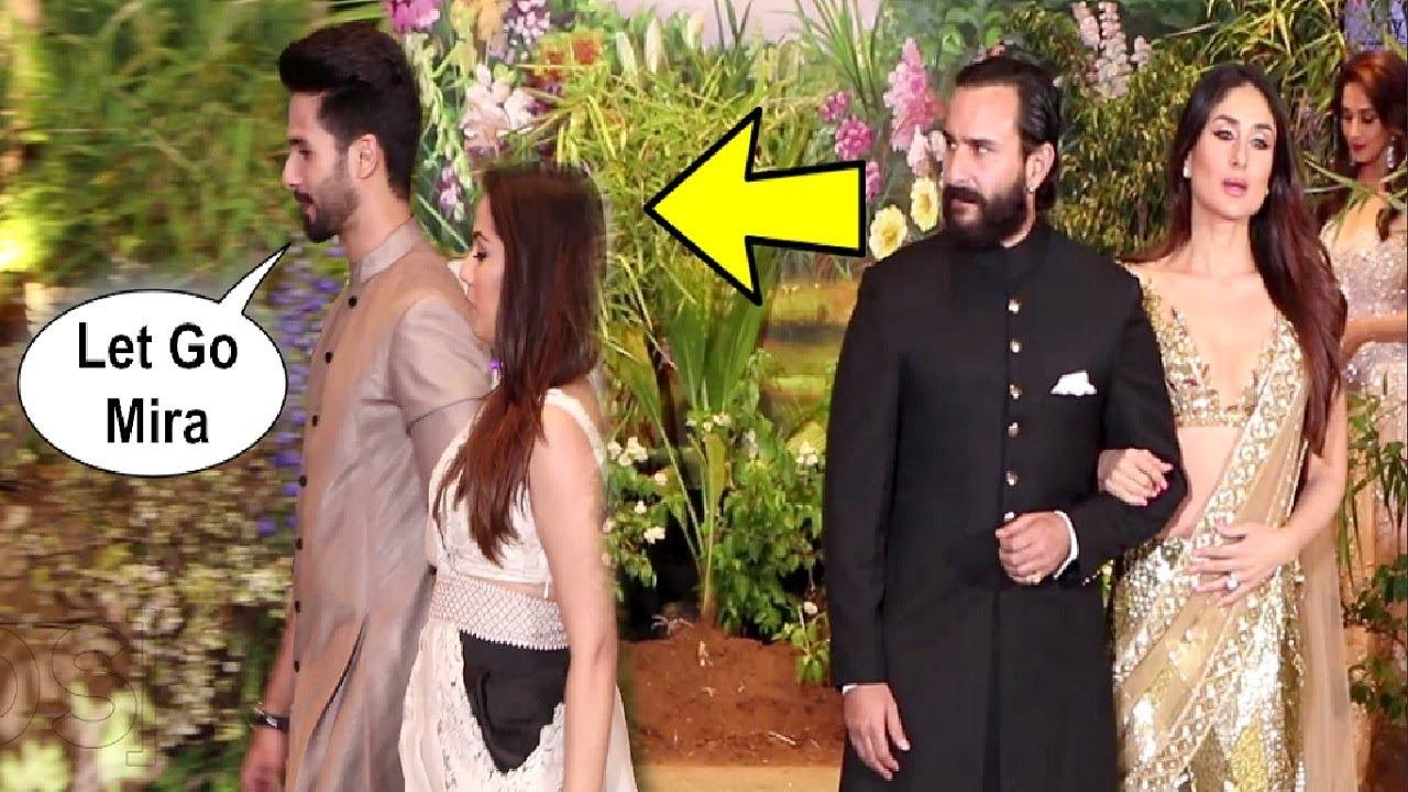 Shahid Kapoor Ignores Ex-Girlfriend Kareena Kapoor At Sonam Kapoor Wedding Reception