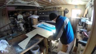 05 WC 203 Polar St Nick Plywood Yard Art Color Print Part 3