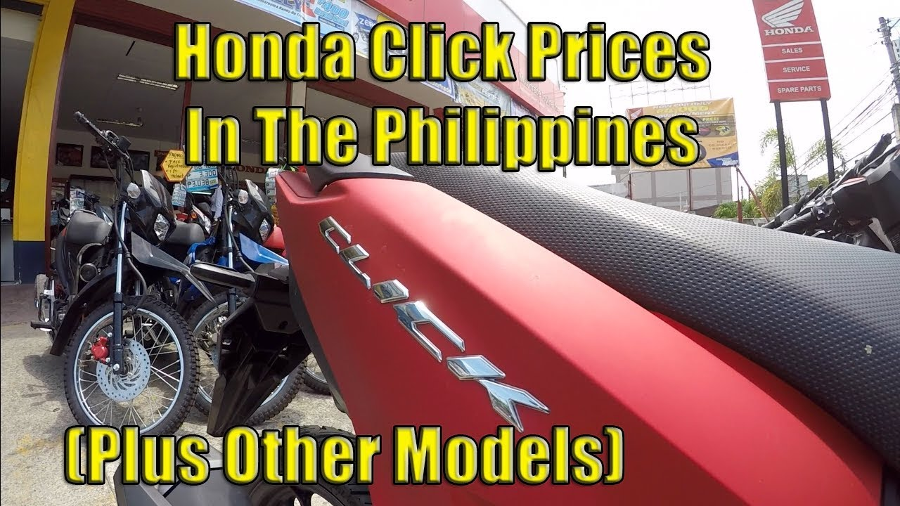 Honda Click Motorcycles Prices In The Philippines Plus Other Models Youtube