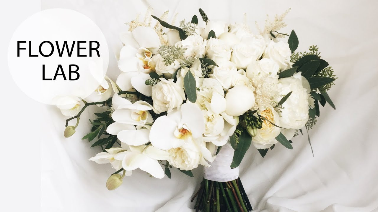 How To Make A Cascading Wedding Bouquet With Orchids Diy Wedding