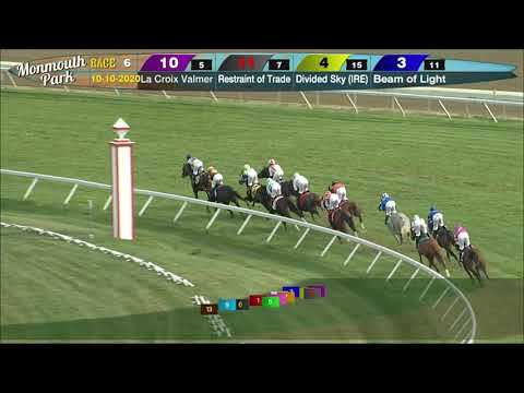 video thumbnail for MONMOUTH PARK 10-10-20 RACE 6