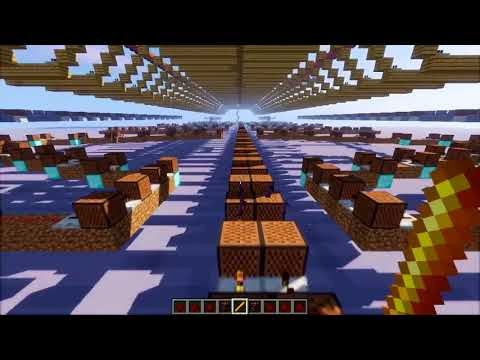 【Handmade】Crazy Backup Dancers  Minecraft 112 Note Block Song  Touhou 16 HSiFS