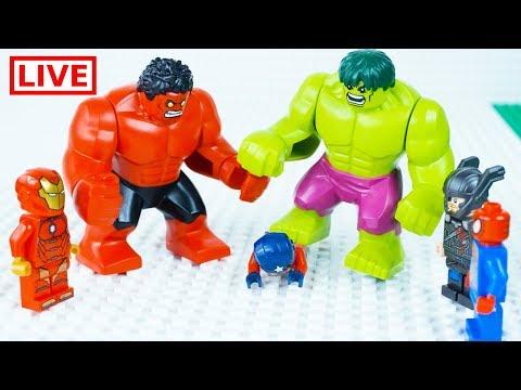 LEGO Superheroes LIVE 🔴 STOP MOTION LEGO Hulk Ultimate Rage | LEGO Hulk | By Billy Bricks