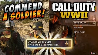 How to Commend a Fellow Soldier in Call of Duty: WWII Headquarters | Commend 10 Players Quick Tip