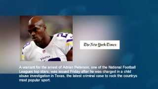 NEWS N.F.L. Rocked Again as Adrian Peterson Faces a Child Abuse Charge