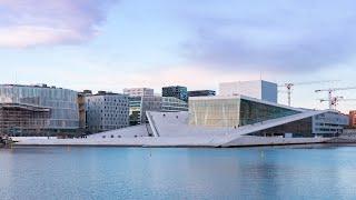 Oslo Opera House - Day to Night Hyperlapse 4K