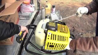 видео бензобур для земляных работ
