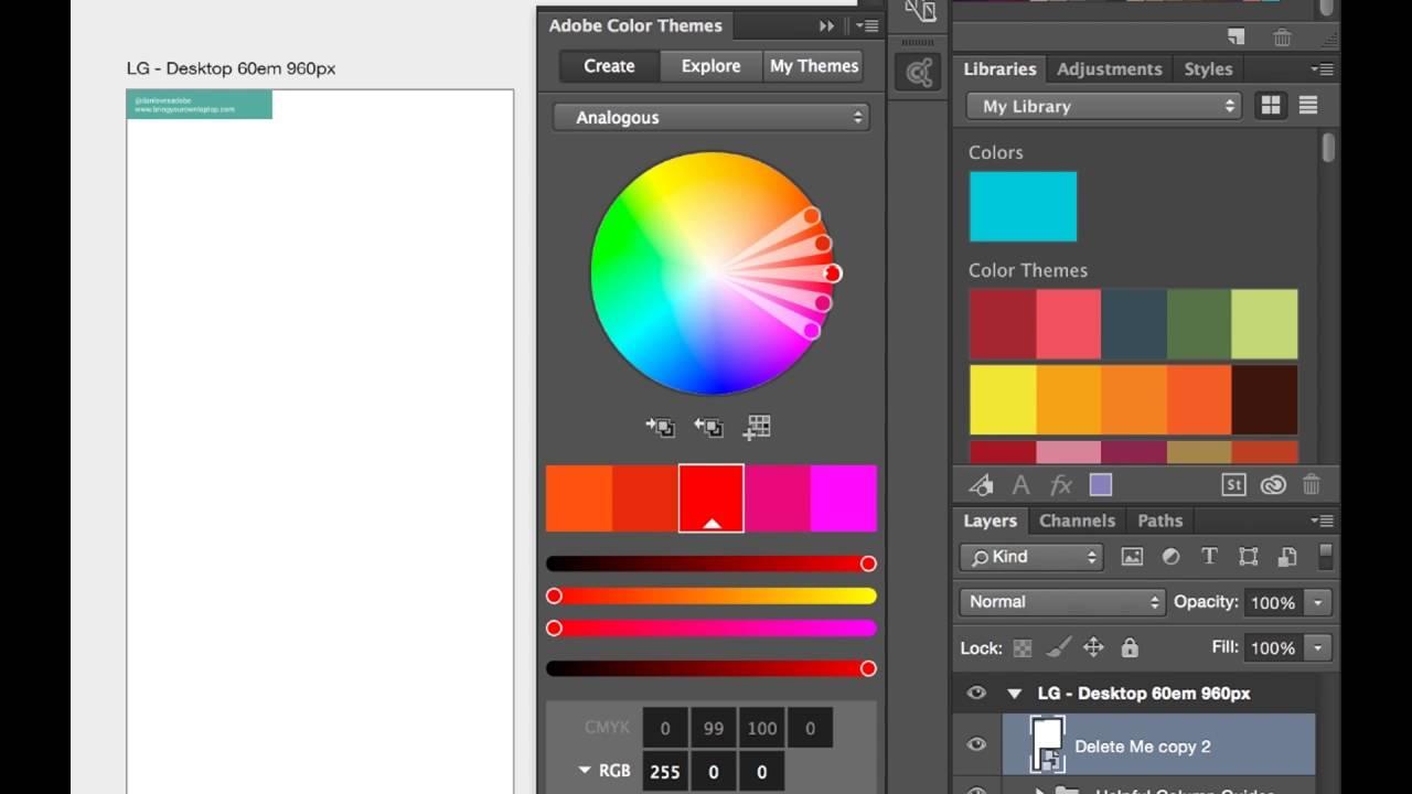 Picking website colors in Photoshop - Adobe Photoshop CC 2015 Web Design Tutorial 21/48