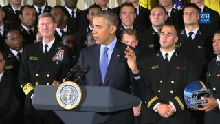President Obama Presents the Commander-in-Chief Trophy
