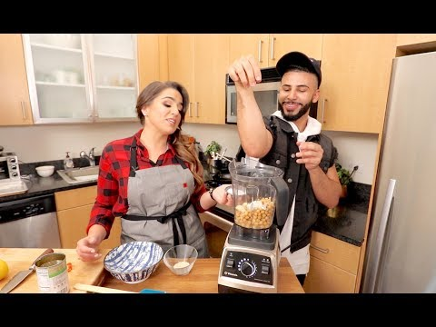 COOKING CHALLENGE WITH A PROFESSIONAL COOK!! *making Hummus*