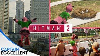 Hitman 2 - FLYING Agent 47 Easter Egg!