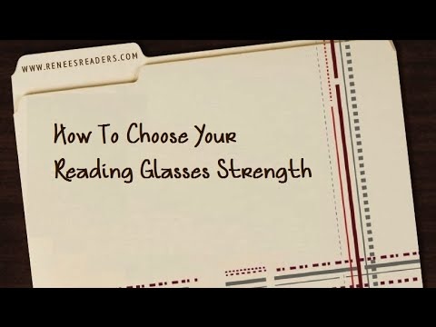 How to Choose Your Reading Glasses Strength image