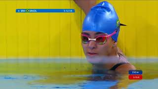Team USA Brings Home Silver In Women's 4x100M Freestyle Relay 34PT | Parapan American Games Lima