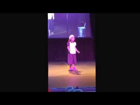 Linze Mae Singing Hard Knock Life for Redding School of the Arts' Talent Show. October 2014