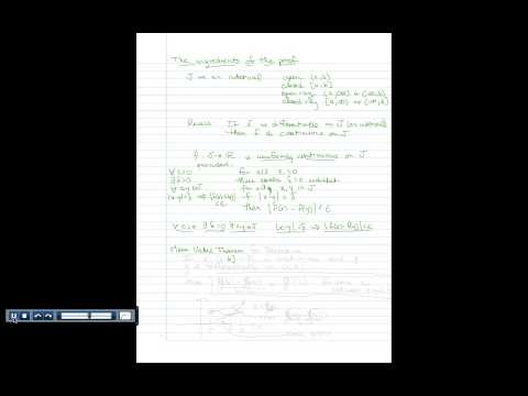 Proof Construction: A function with bounded derivative is uniformly continuous