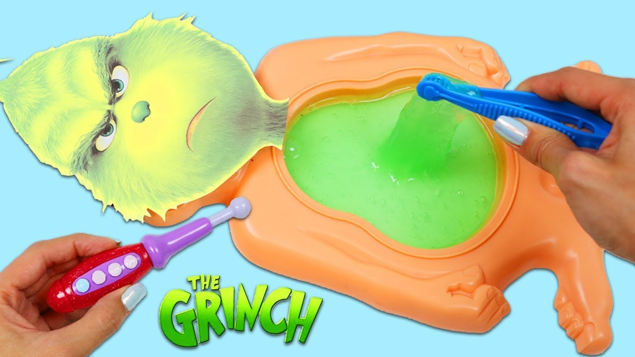 Download Dr. Suess The Grinch Has Green Slime Belly Full of Surprise Toys!
