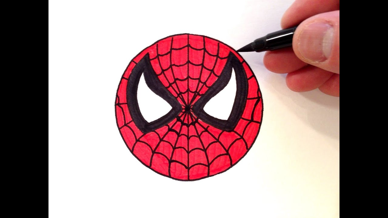 How To Draw A Spiderman Smiley Face  Easy For Beginners