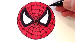 How to Draw a Spider-Man Smiley Face - Easy for Beginners