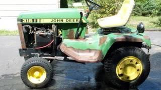 JOHN DEERE 316 Tractor Restoration Part 1/6