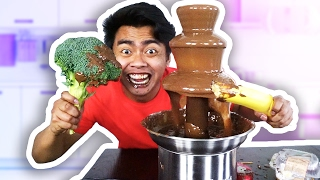 Repeat youtube video CHOCOLATE FONDUE CHALLENGE!