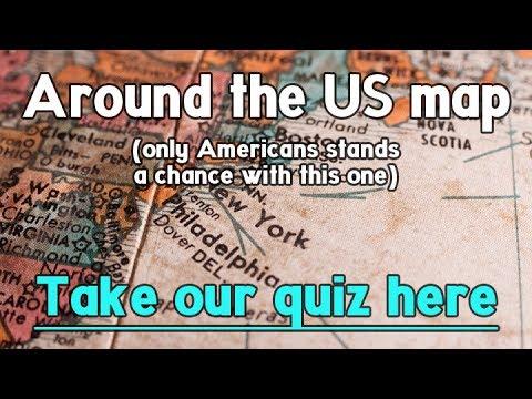 Quiz : Around The US Map