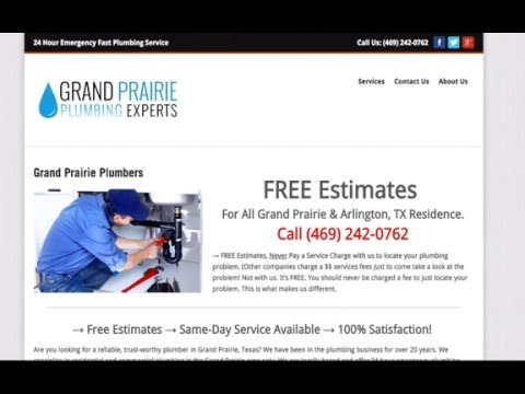 video:Grand Prairie Plumbing Experts: We Offer FREE Plumbing Estimates