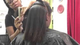 Flat Iron And Trim On Natural hair 4c