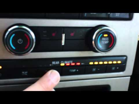 HOW TO USE REAR CLIMATE CONTROL ON YOUR FORD FLEX
