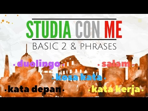 BELAJAR BAHASA ITALIA | DUOLINGO BASIC 2 & PHRASES // STUDIA CON ME #2