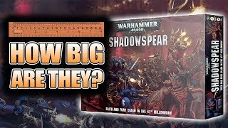 How Big Are The Chaos & Primaris Minis: Shadowspear Unboxing & Build