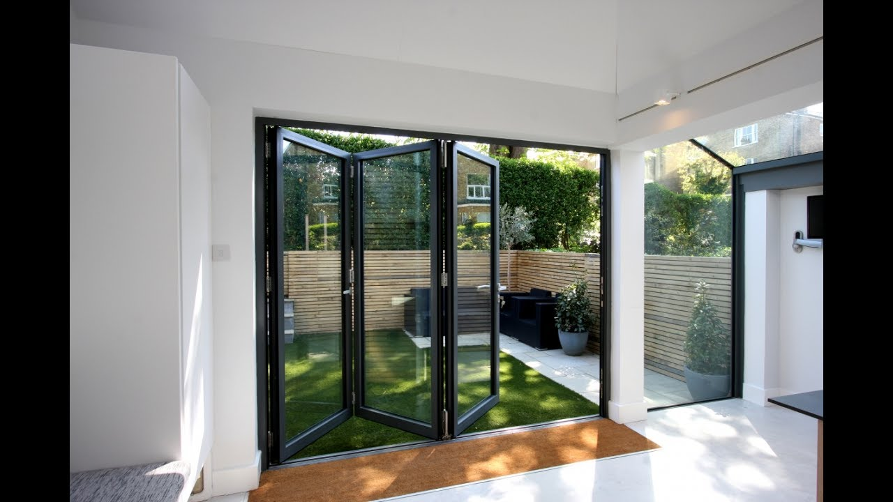 aluminium bi fold doors external designs for home youtube