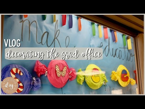 Moxie Vlog⎪Decorating Our Grad Office Display
