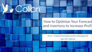 Webinar series : how to optimize your forecasts and inventory increase profit ? optimizing forecasting supply/inventory process has a direct impa...