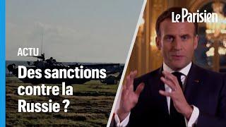 Frontière ukrainienne : Macron prêt à sanctionner la Russie en cas de «comportement inacceptable»