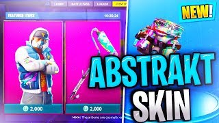 NOVA pele abstrata//Renegade Roller AXE//TAG atrás de trás BLING/FORTNITE BATTLE ROYALE