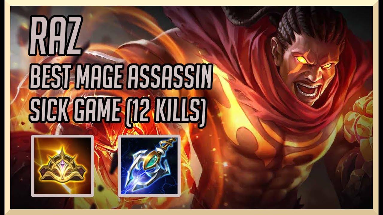 Aov Raz The Best Mage Assassin  Kills Arena Of Valor Raz Gameplay Guide