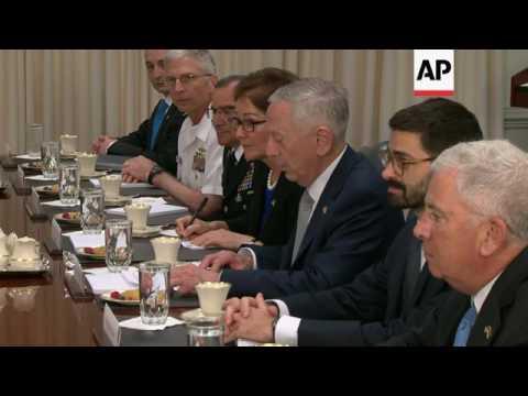Ukraine President Meets Mattis at Pentagon
