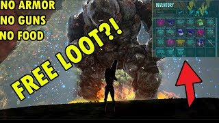 Solo Lava Golem Without Armor or Guns for INSANE LOOT! - ARK: Survival Evolved