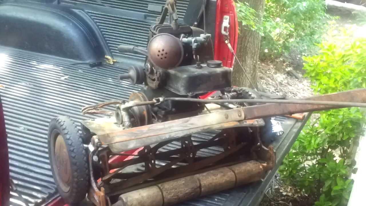Eclipse Reel Lawn Mower Briggs Wi Engine 1940 Youtube