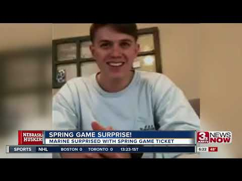 Marine Surprised With Spring Game Tickets